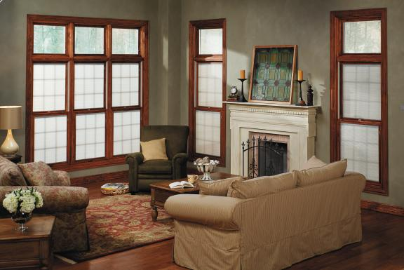 Pella windows with window treatments